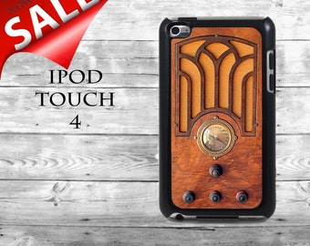 Vintage Radio Tombstone radio - SALE iPod Touch 4G case - old hipster wooden radio phone iPod Touch case,  iPod cover