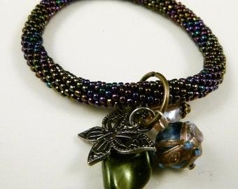 Almost Midnight Beaded Bracelet , B74