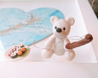 Polar bear cake topper, polar bear gift, polar bear ornament, polar bear, Christening cake, Christmas ornament