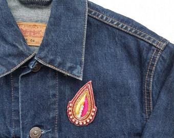 Embroidered Crystal Badge