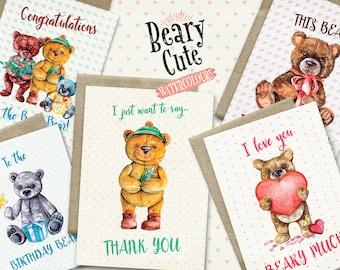Beary Cute Greeting Cards Bundle