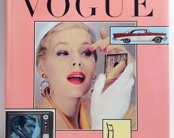 Hardcover FIRST EDITION of The Fifties in VOGUE, with Forward by Audrey Hepburn, c. 1987