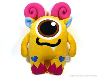 Valentines Day Stuffed Monster Plush Toy Stuffed Animal Monster Pillow Nursery Pillow Decor Valentine's Day Gift For Her Him Girl For Boy