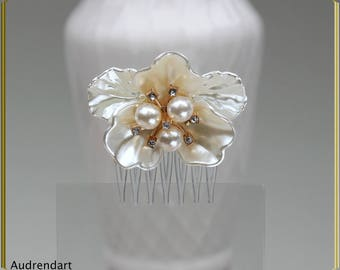 White Comb Small Comb Pearls Comb Wedding Hair Comb Bridal Comb Wedding Hair Piece Party Comb Bridal Hair Jewelry Summer Hair Accessories