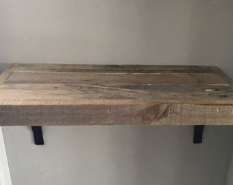 "24"" Reclaimed wood shelves"