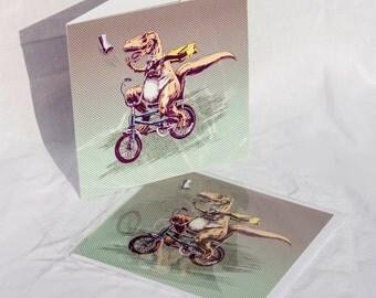 T Rex on a Chopper card