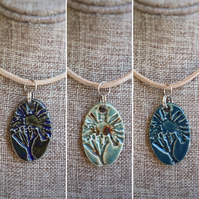Handmade Ceramic Flower Pendant Only Diy Ceramic Jewelry