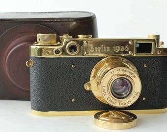 """Leica """"XI Olimpischen Spieler"""" Leitz Elmar f3.5/50mm ( Replica )"""