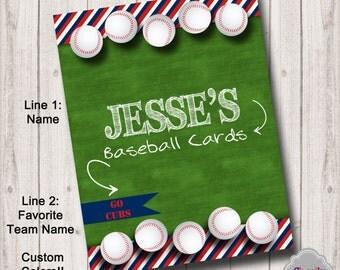 BI011 - Custom Binder Insert - Baseball Cards - Printable