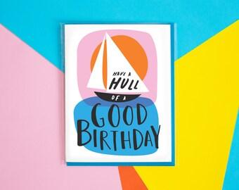 Hulla Good Birthday Card