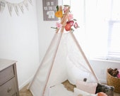 Lace Kids teepee in Ivory White