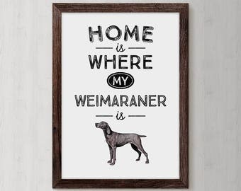 Weimaraner, Weimaraner Art, Dog Wall Decor, Dogs, Pet Gift For Him, Dog Poster Print, Dog Mom, Dog Breed, Custom Dog Gift, Dog Grandma, Pup