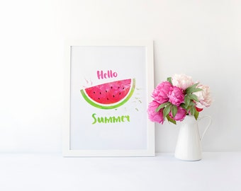 Hello Summer Print