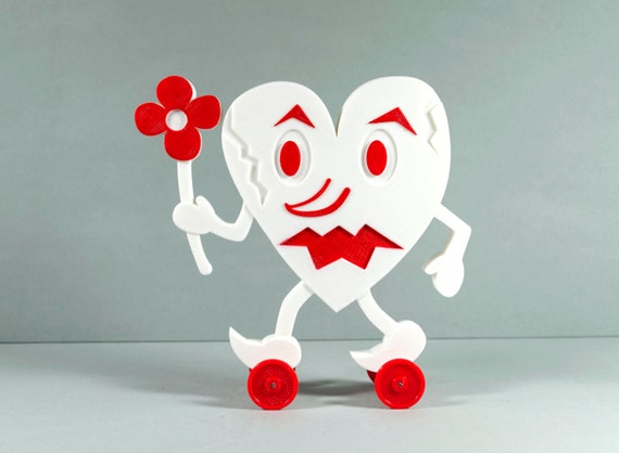 Valentine S Day Vintage Toys : Valentine s day heart monster toy on wheels vintage style