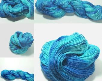 Hand dyed yarn, Alpaca and Silk- Tidal Blue (limited edition colorway)