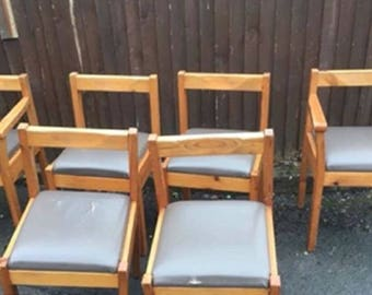 SET OF 6 CHAIRS - 6 Dining Chairs - Dining Chairs - Chair Frames or Deposit On Painted Furniture - Upcycled Chairs, Shabby Chic Chairs
