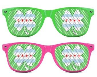 Chicago Flag Shamrock Sunglasses
