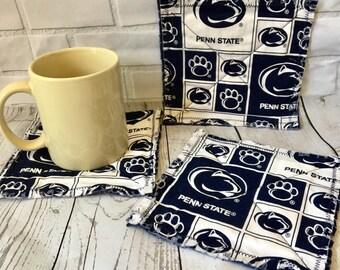 Penn State Coasters set of 4 (mug rug), penn state decor, penn state mug rug