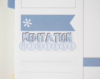 36 Meditation Daily Habit Stickers  | Planner Stickers designed for use with the Erin Condren Life Planner | 0678