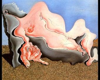 "Salvador Dali Print, ""Beigneuse"", Salvador, Dali, Surrealism, Dali Painting, Vintage Book Plate Print"
