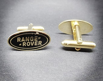 Range Rover cufflinks 4x4 Land Rover SUV car cufflinks with Range River logo British design Mens gold plated cufflinks gift for him