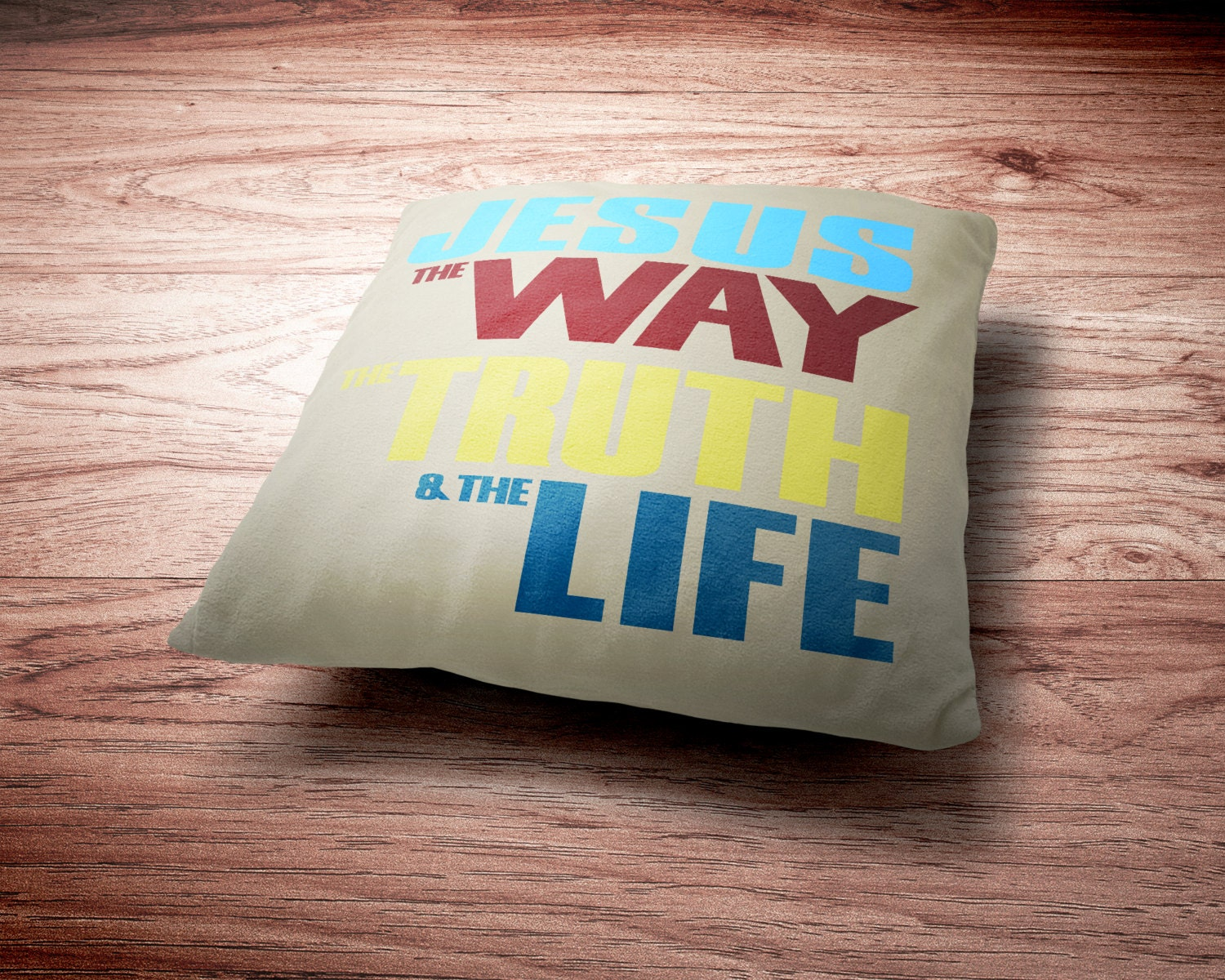John 14:6 - Jesus The Way The Truth And The Life Throw Pillow - Christian Throw Pillow