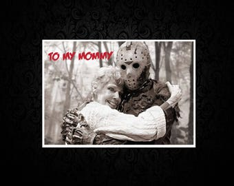 Friday the 13th - Jason - Printed Mothers Day Card