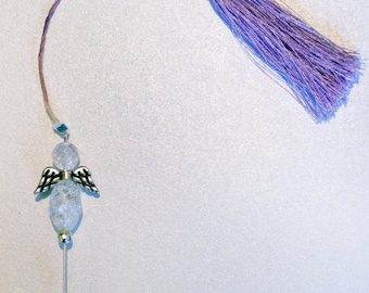 Beaded Angel Wing Counting Stick Pin, counting pin, crystal counting pin, sewing accessory