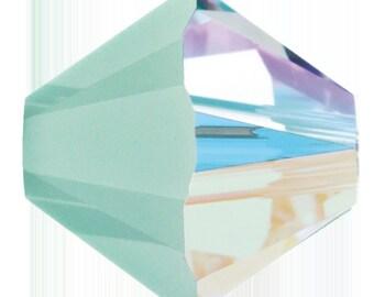 Swarovski Crystal Bicone Beads 5328 - 3mm 4mm 6mm 8mm - Mint Alabaster AB 2X