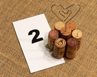 Table Number Holder, Cork Table Number Holders, Wine Tasting Party, Winery  Wedding,