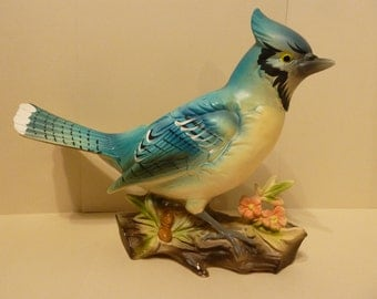 Vintage 60s era, Blue Jay Planter, by: Velco