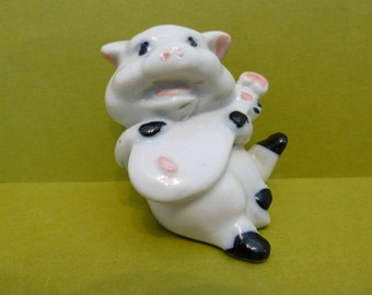 Figurine, Little Piggy, Playing Music, Made in China