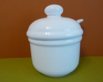 Sugar Bowl w/ lid & Spoon, by: Waechterslach, Spain, 3 Piece Set