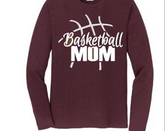 Basketball Mom tee ~ personalized basketball shirt