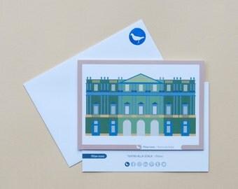 Milan Icons Greeting Cards-La Scala-Milan