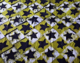 African Ghana hand-dyed 100% cotton fabric