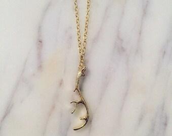 Antler Necklace (Gold)