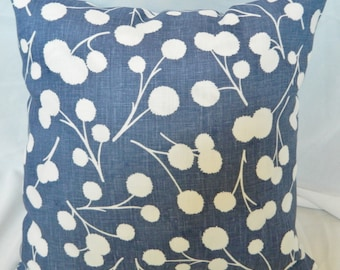 Thom Filicia-Burnet/Ink- Decorative throw pillow Cover / Linen / Both Sides / 18 x 18