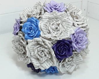 Wedding bouquet, bridal bouquet - Made to order in your choices of paper type/plain colours to fit your theme