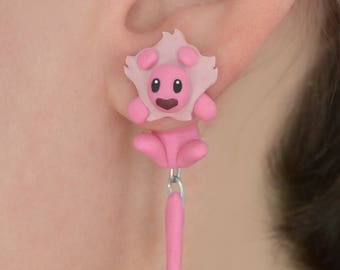 Leon earring, inspired in Steven Universe. Select 1 single earring or a pair (2 in ''quantity'')