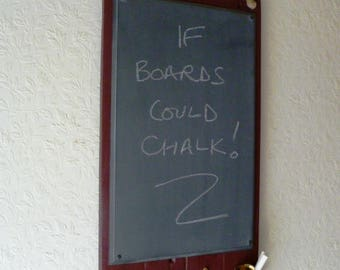 Kitchen Blackboard set on pallet wood in Maroon/Burgundy - Medium