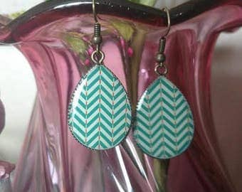 Dangle Drop Earrings Bronze Chevron Spring Abstract Fashion Jewelry ~ Sale Expires Today