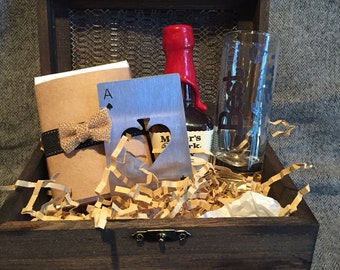 Shot Glass and Card Gift Set for Best Man or Groomsman