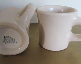 Jackson China Co. USA (JacTan restaurant ware Coffee Mugs) 6 oz. Capacity Vintage; Set of two