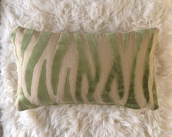 "Decorative Pillow Cover Designer Pillows Interior Design 17.5"" x 10.5"" Throw Pillow Lumbar Pillow Sofa Pillow Accent Pillow Green Tiger"