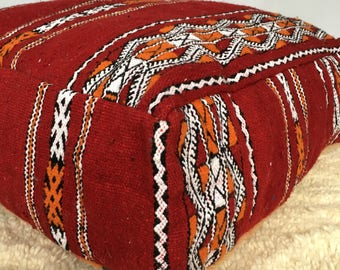 Moroccan Kilim Pouffe / Floor Cushions Cover