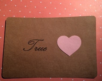 Handmade True Love Card