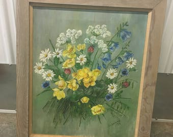 Original oil painting signed by Susanne 75