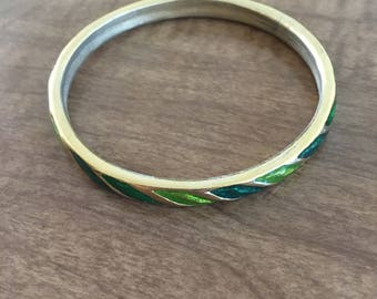 Colorful metal bangle, enameled bracelet