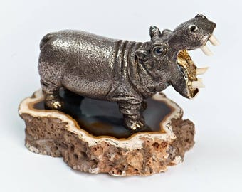 "Silver Figurine ""Hippopotamus"""